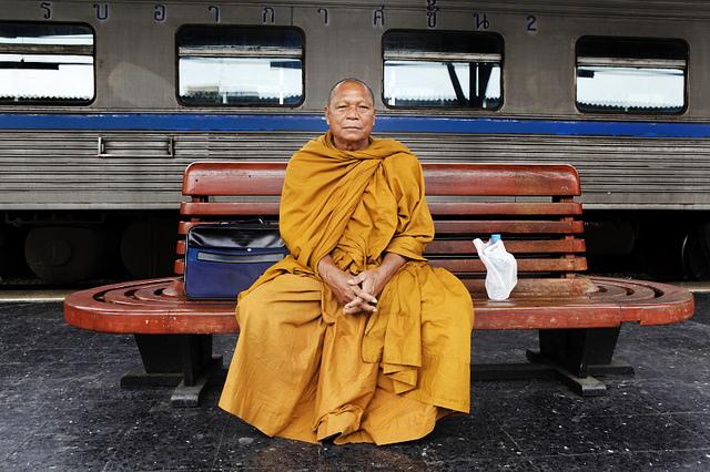 mnich w metrze